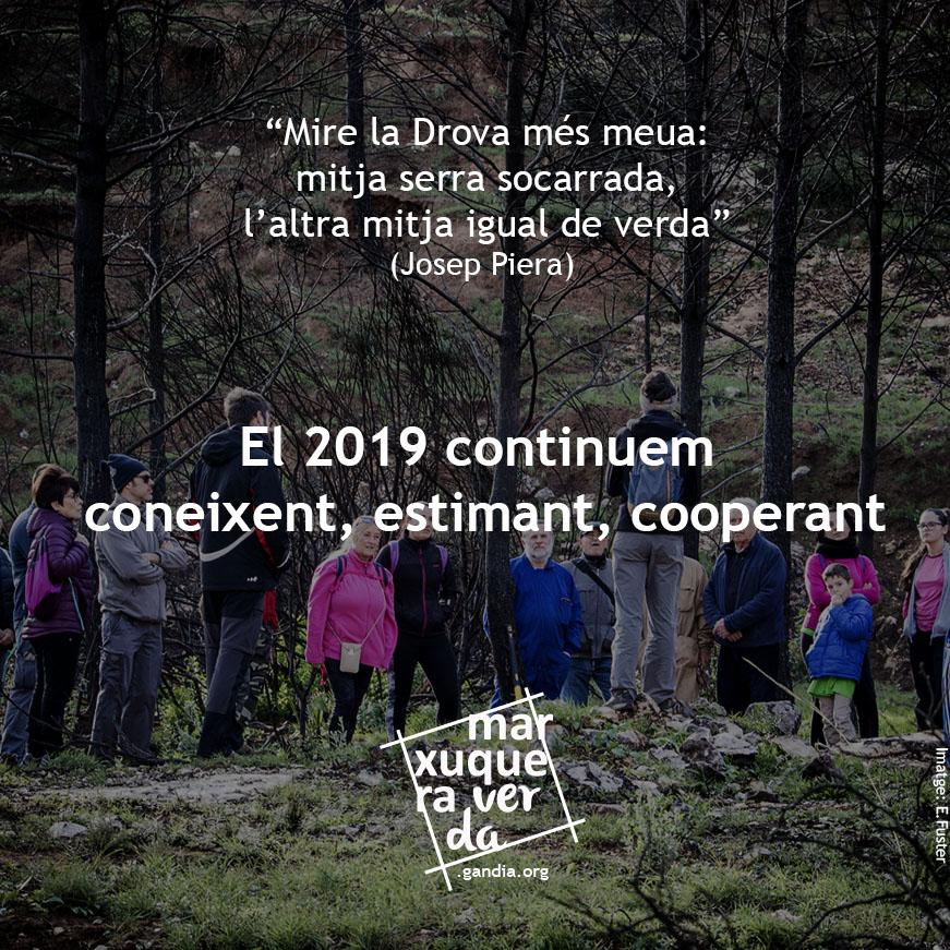 Coneixem, estimem, cooperem: continuem fent Marxuquera verda el 2019