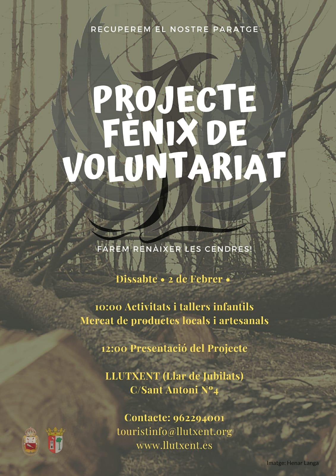 Llutxent presenta el projecte de voluntariat Fènix